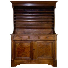 Large Late 18th Century French Walnut Kitchen Dresser, Cupboard