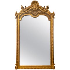 Large Late 19th Century French Gold Gilt Mirror