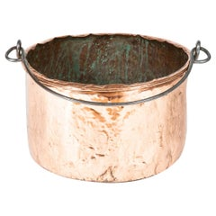 Large Mid-19th Century Copper Pot with Iron Handle