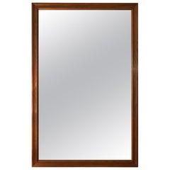 Large Midcentury Rectangular Oak Mirror, by Glas & Tra
