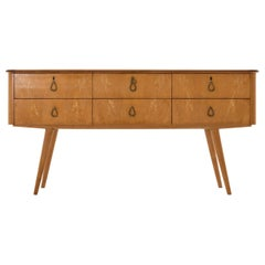 Large Midcentury Sycamore Chest of Drawers