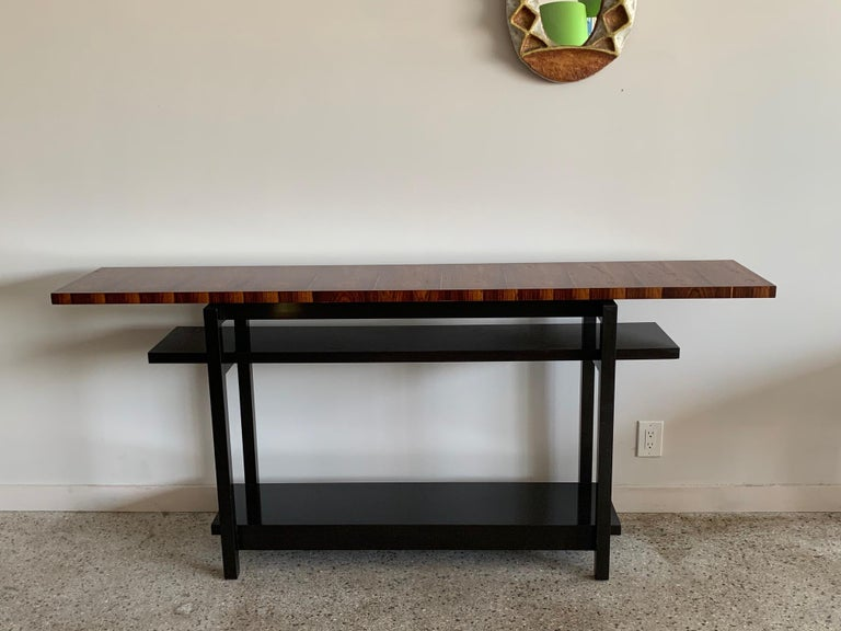 Large Modernist Console Table with Floating Top 5