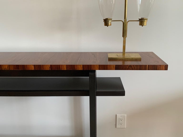 Large Modernist Console Table with Floating Top In Good Condition In St.Petersburg, FL
