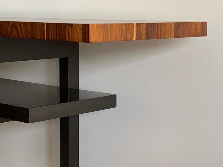 Rosewood Large Modernist Console Table with Floating Top