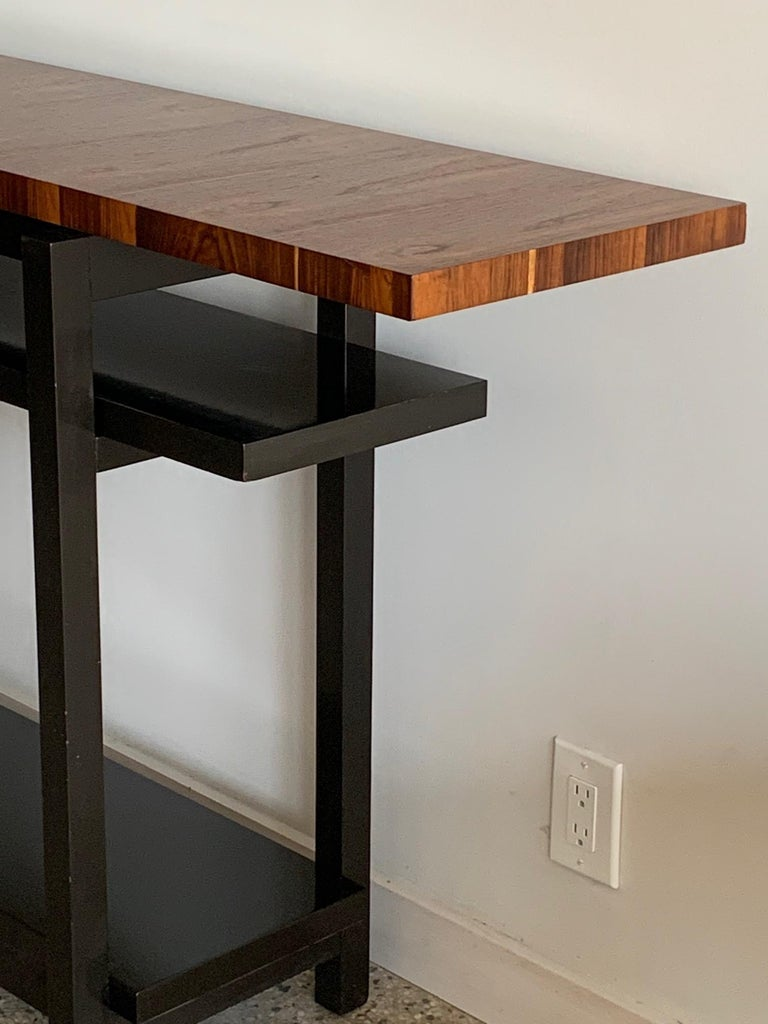 Large Modernist Console Table with Floating Top 1