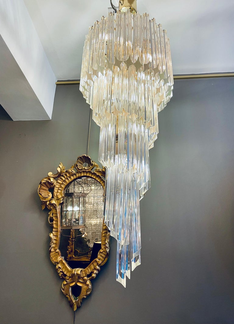 Large Murano Spiral Chandelier For Sale 4