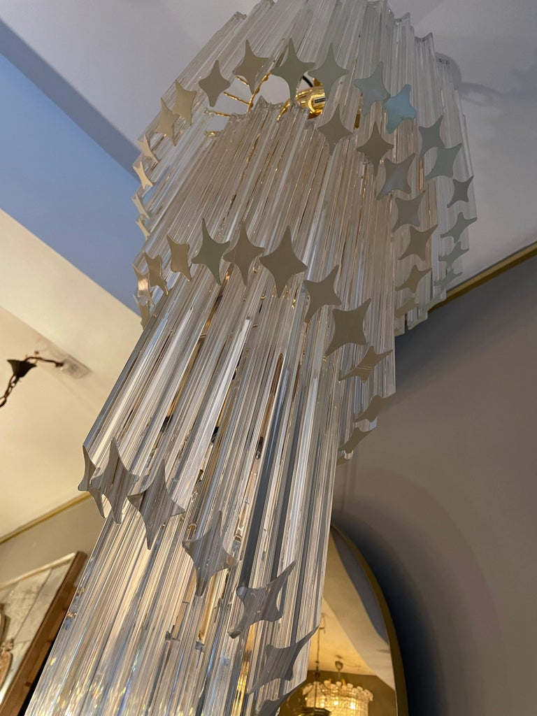 Large Murano Spiral Chandelier In Good Condition For Sale In London, GB