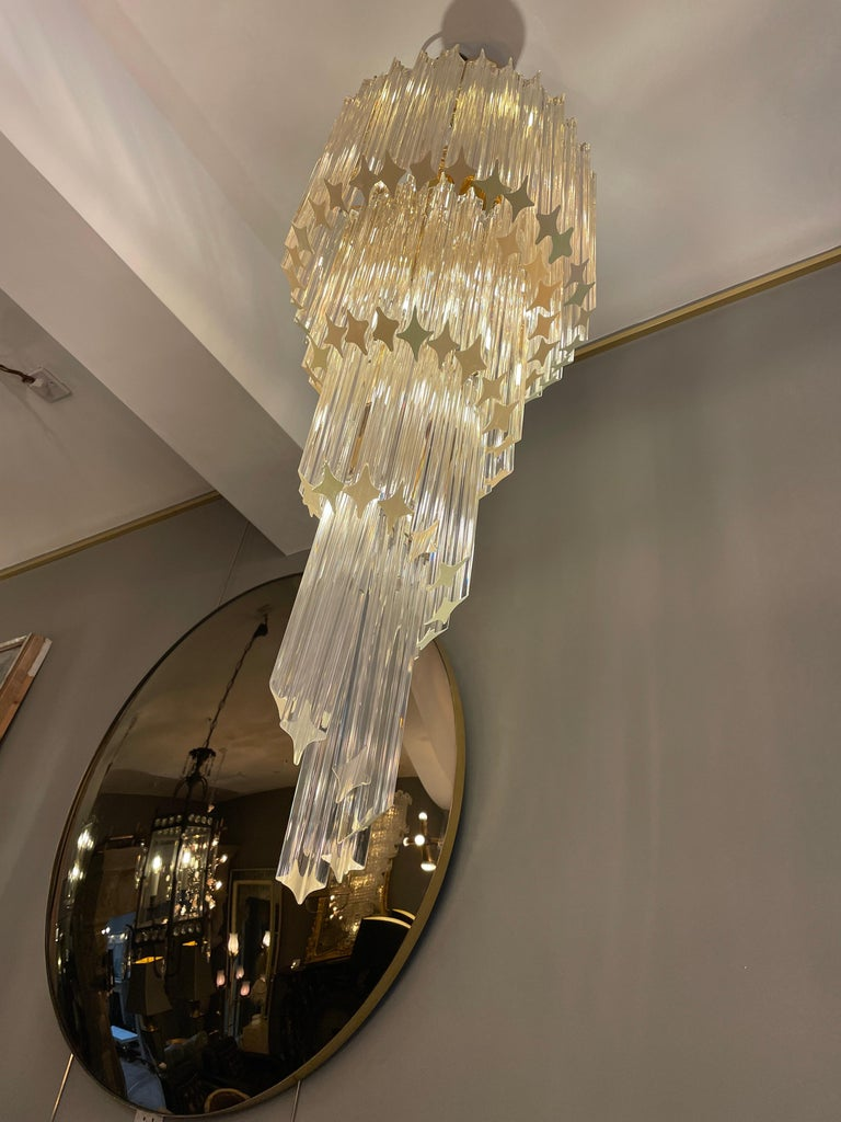Large Murano Spiral Chandelier For Sale 2