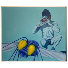Large Painting by Luigi Maria De Rubeis, circa 1970s