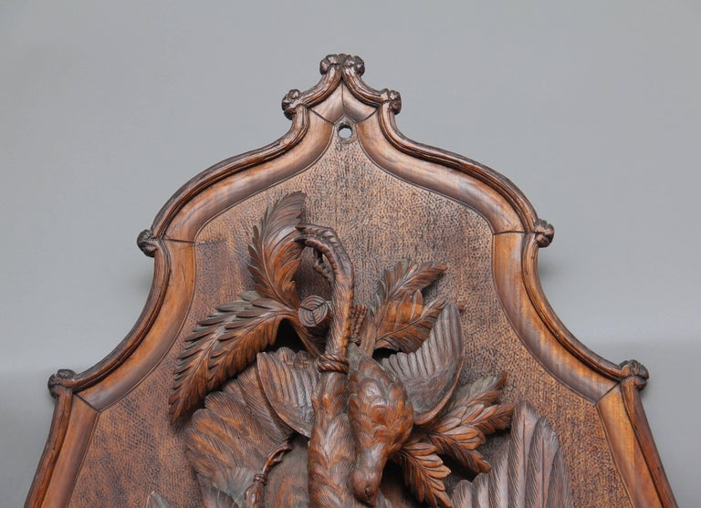 Swiss Large Pair of 19th Century Black Forest Plaques For Sale