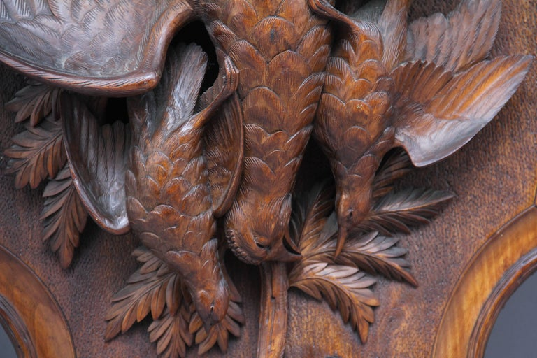 Late 19th Century Large Pair of 19th Century Black Forest Plaques For Sale