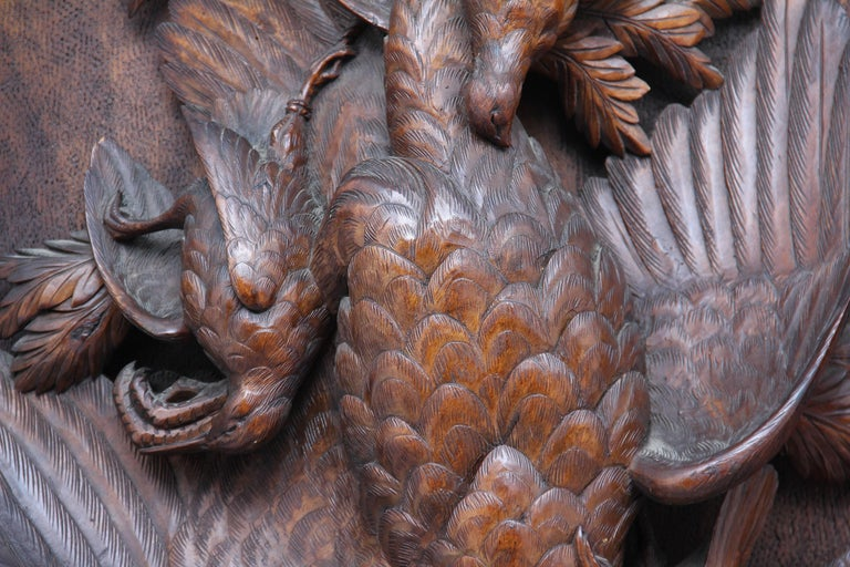 Walnut Large Pair of 19th Century Black Forest Plaques For Sale