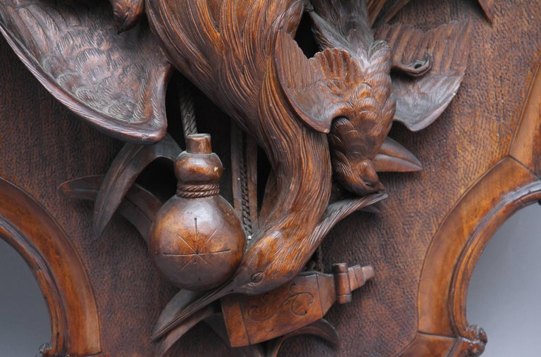 Large Pair of 19th Century Black Forest Plaques For Sale 2