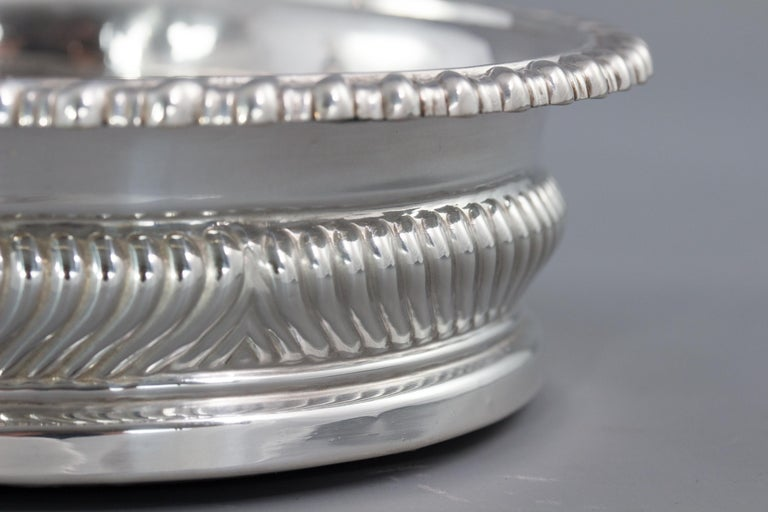 Large Pair of George III Silver Wine Coasters, Sheffield, 1819 For Sale 12
