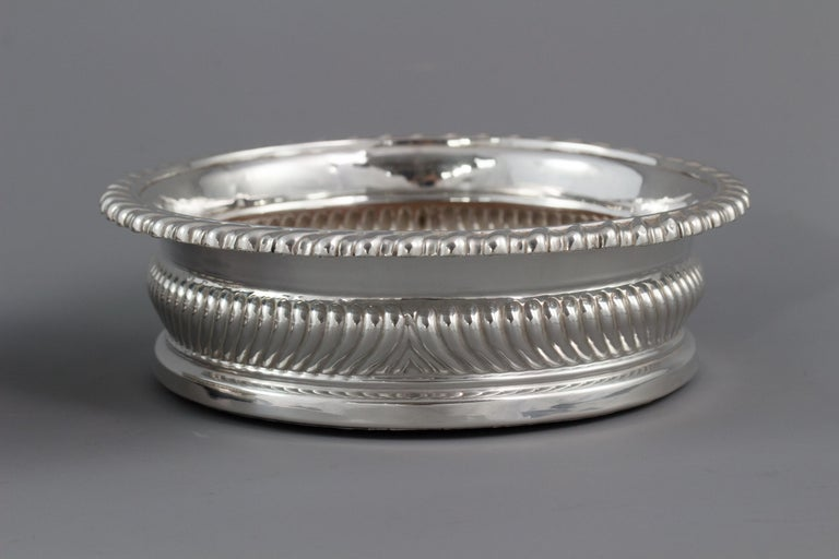 Large Pair of George III Silver Wine Coasters, Sheffield, 1819 For Sale 1