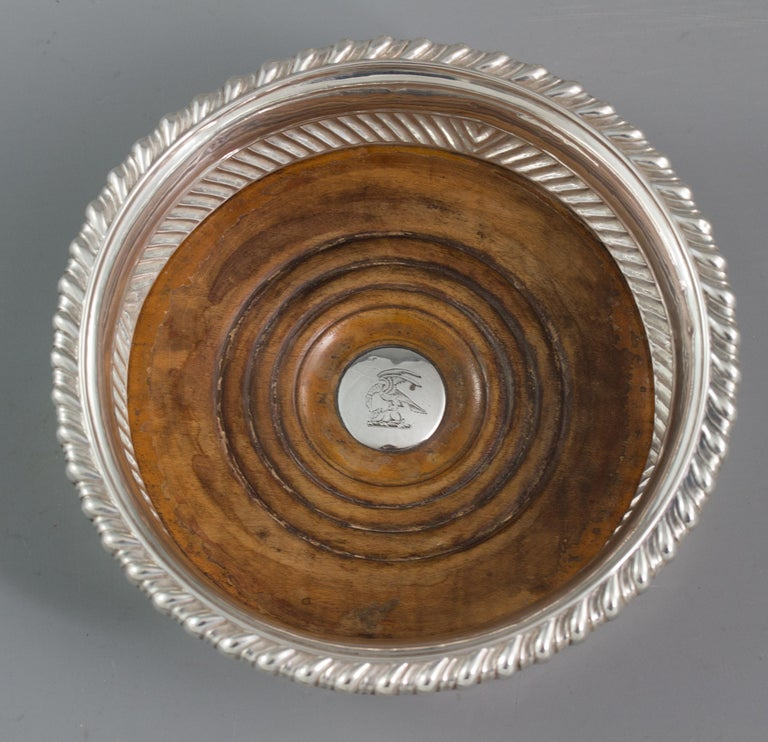 Large Pair of George III Silver Wine Coasters, Sheffield, 1819 For Sale 2