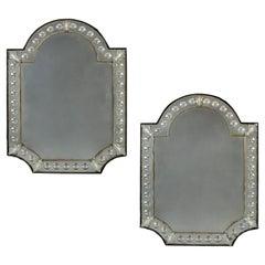 Large Pair of Venetian Glass Mirrors