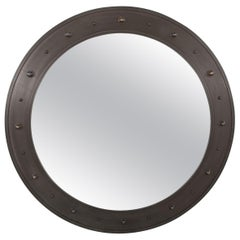 A Large Patinated Bronze Mirror by John McDevitt