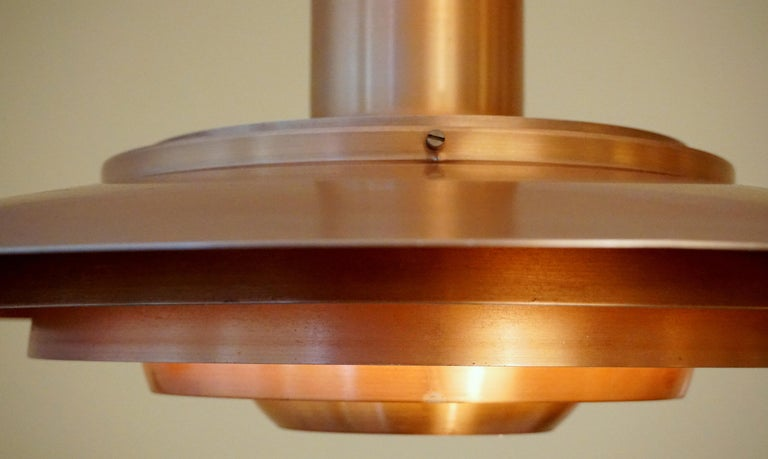 Large P.Fabricius & J.Kastholm Mod. P700 Pendant in Copper for Nordisk Solar For Sale 3