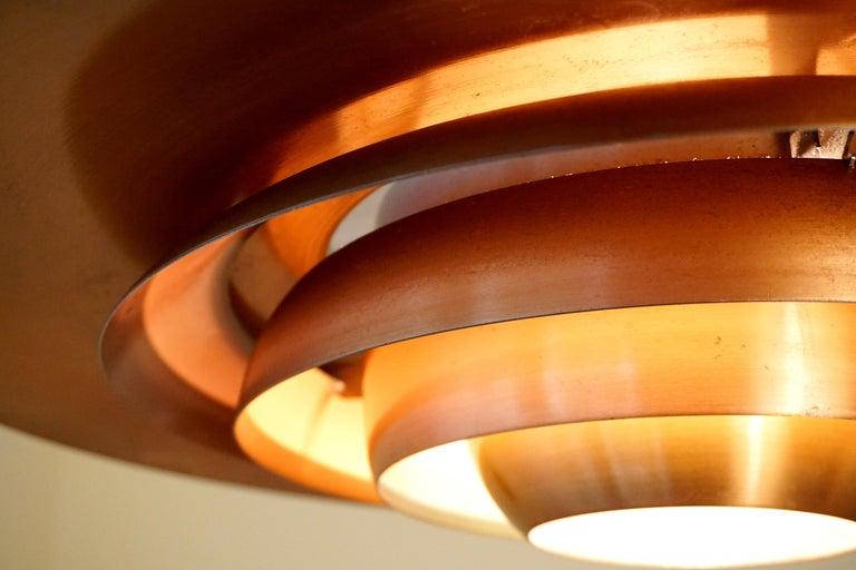Large P.Fabricius & J.Kastholm Mod. P700 Pendant in Copper for Nordisk Solar For Sale 9