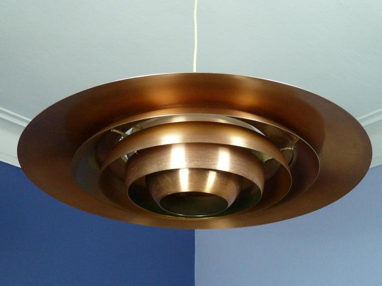 Danish Large P.Fabricius & J.Kastholm Mod. P700 Pendant in Copper for Nordisk Solar For Sale