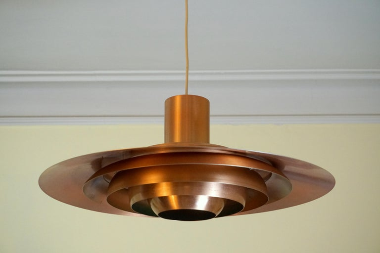 Anodized Large P.Fabricius & J.Kastholm Mod. P700 Pendant in Copper for Nordisk Solar For Sale