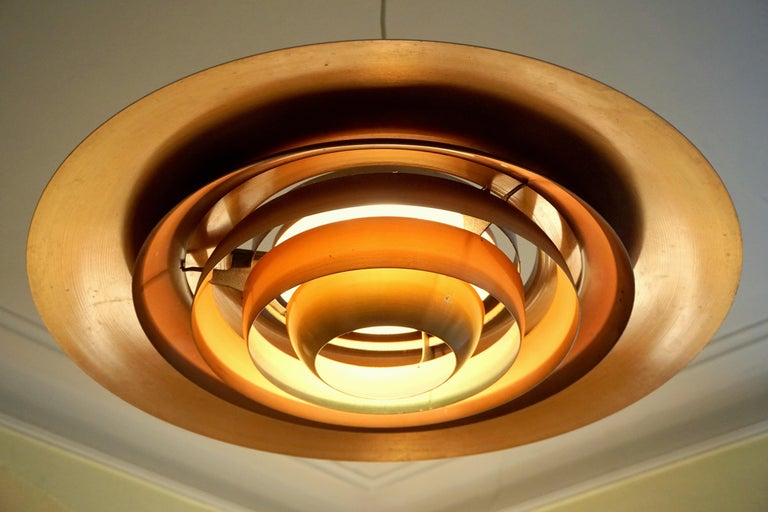 Mid-20th Century Large P.Fabricius & J.Kastholm Mod. P700 Pendant in Copper for Nordisk Solar For Sale