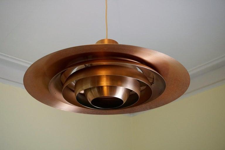 Large P.Fabricius & J.Kastholm Mod. P700 Pendant in Copper for Nordisk Solar For Sale 1