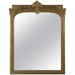 A Large Regence Style Carved Giltwood and Gesso Mirror, Circa 1860
