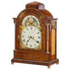 Large Regency Mahogany Brass Inlaid Bracket Clock by John Foster, circa 1820