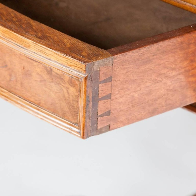 Large Scale Pollard Oak and Walnut Library Table, English, circa 1860 For Sale 3