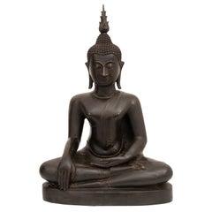 Large Tibetan Bronze Buddha