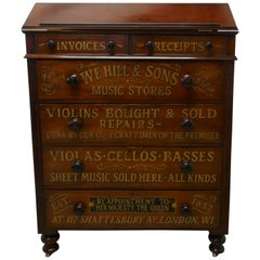 Large Victorian Mahogany Shop Display Music Cabinet