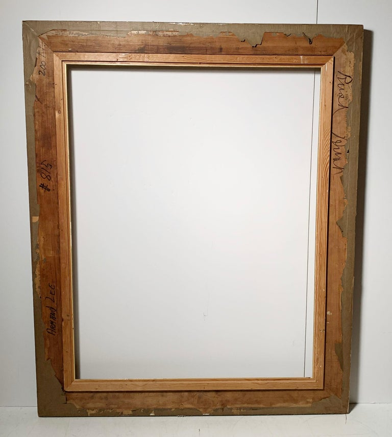 Large Vintage Armand Lee Matt Silver Mirror or Picture Frame In Good Condition For Sale In Chicago, IL