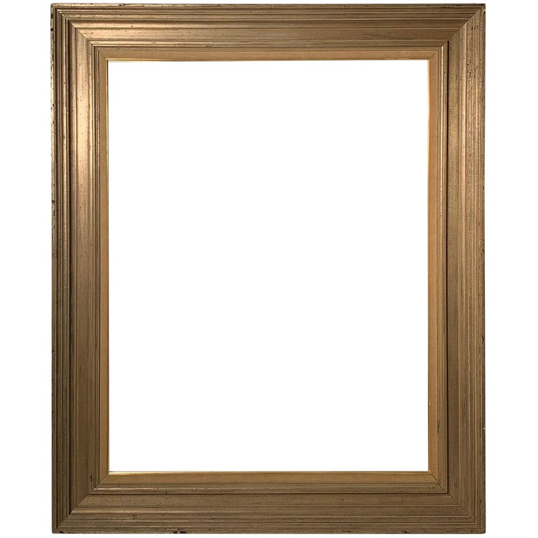 Large Vintage Armand Lee Matt Silver Mirror or Picture Frame For Sale