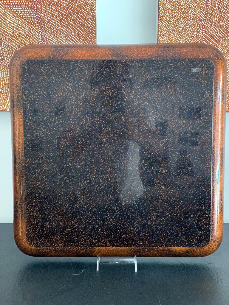 Large Vintage Japanese Maki-e Lacquer Kimono Tray For Sale 1