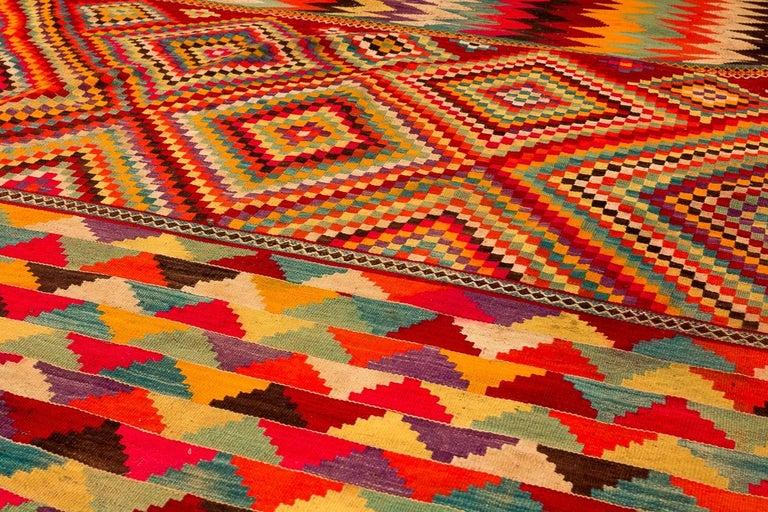 Wool A Large Vintage Kilim 5' 4