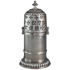 Late 17th Century Silver Lighthouse Sugar Caster, London by SH