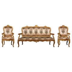 A Late 18th Century Venetian Giltwood Suite