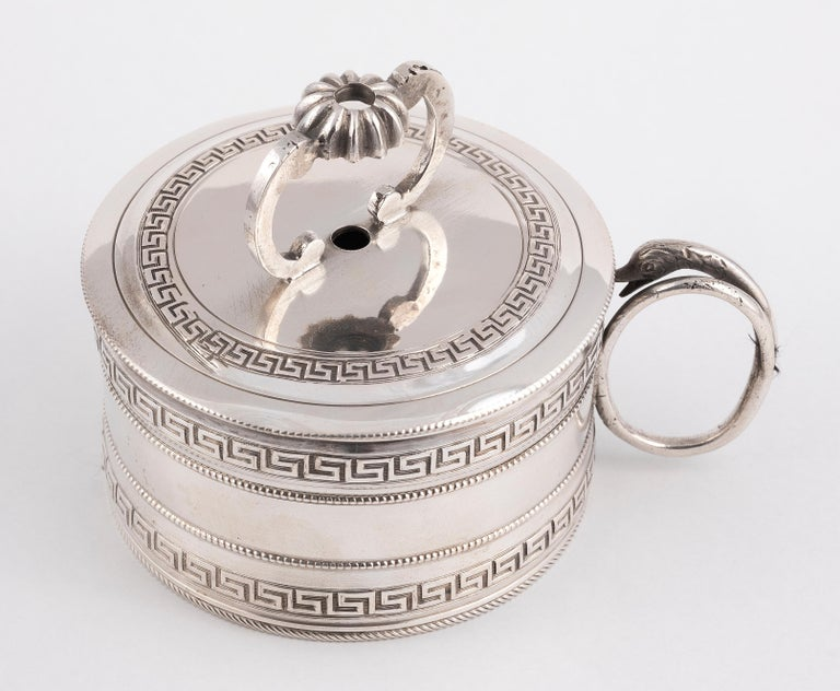 Empire Late 18th Early 19th Century Italian Silver Wax Jack For Sale