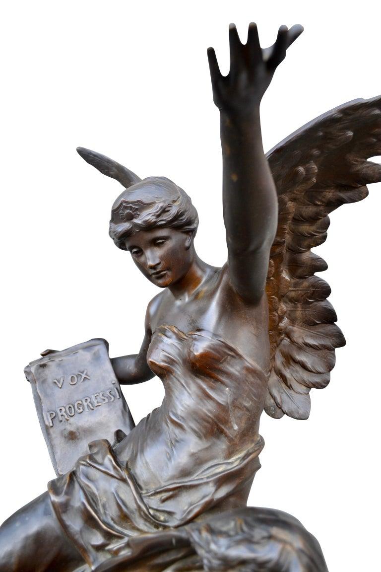 Napoleon III Late 19th Century Figural Bronze Statue Titled