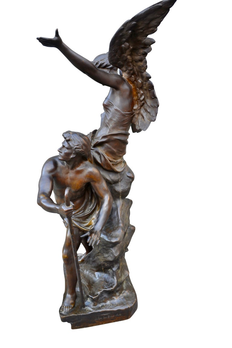 Late 19th Century Figural Bronze Statue Titled