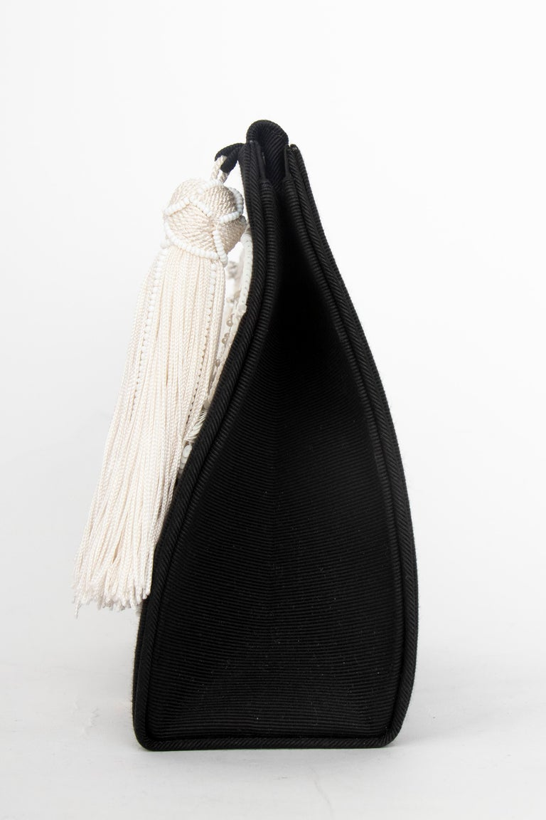 Black A Late 1990s Christian Dior by John Galliano Beaded Evening Bag  For Sale