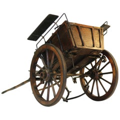 Late 19th Century English Detailed Scratch Built Model of a Horse Drawn Carriage