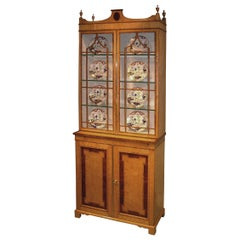 Late 19th Century Bird's-Eye Maple Display Bookcase