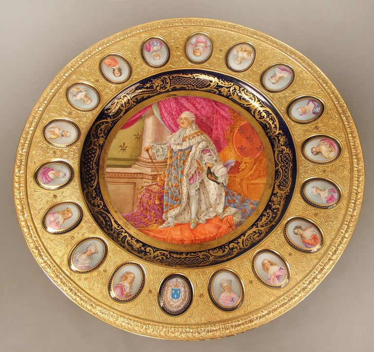 A beautiful late 19th century gilt bronze mounted Sèvres style porcelain centre table