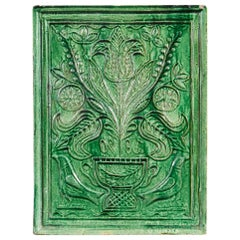 Late 19th Century Green Ceramic Tile