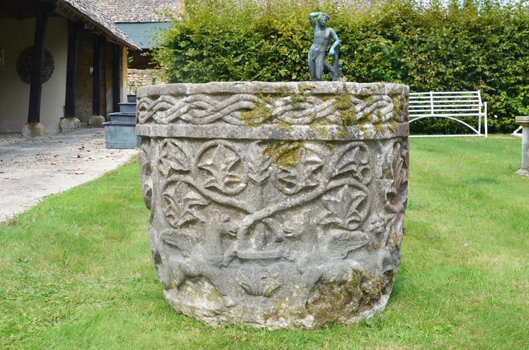 Late 19th Century Istrian Stone Planter of Irregular Form For Sale 1
