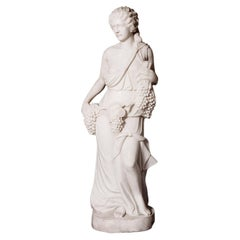 Late 19th Century Italian Carved Statuary Marble Figure in the Classical Style