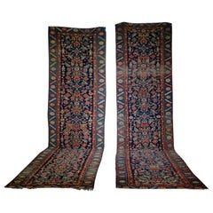 Late 19th Century Long Near Pair of Malayer Persian Runners, Rugs Colourful
